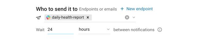 Recipients and wait between notifications