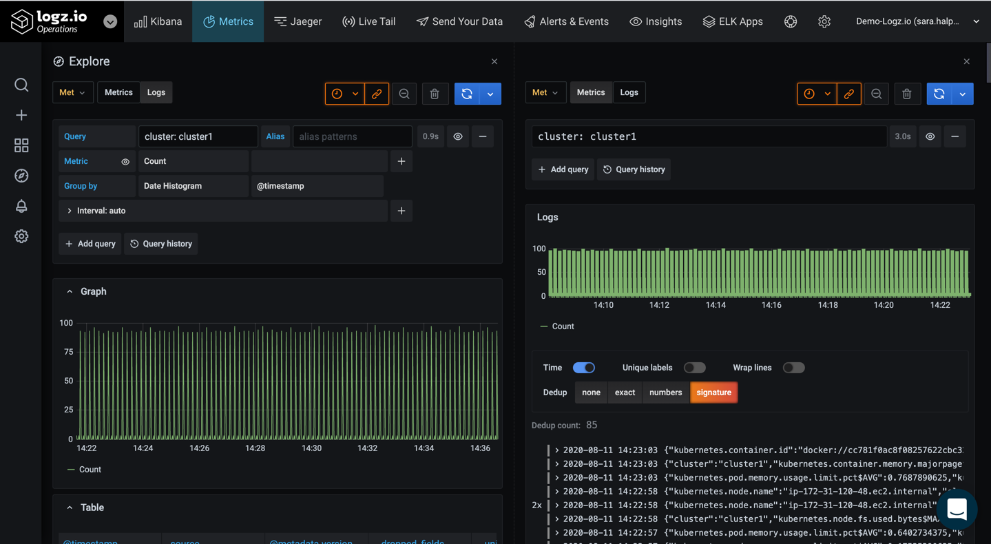 Sync Grafana Explore views