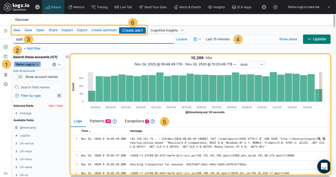 Kibana Discover Overview