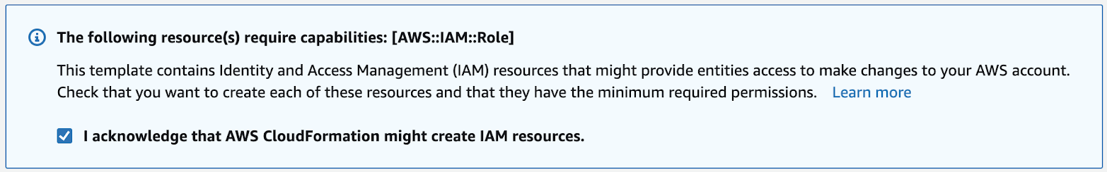 AWS IAM Role notice