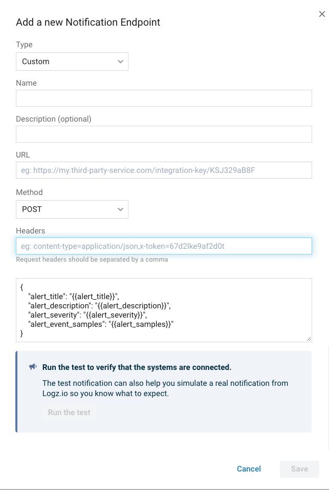 Configure a custom endpoint