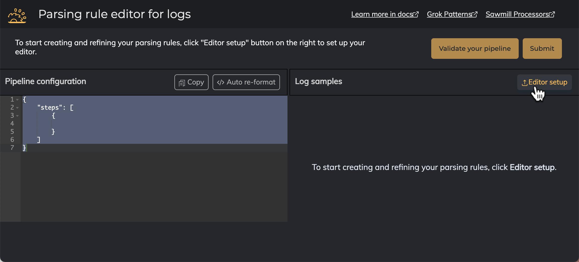 Sample log process