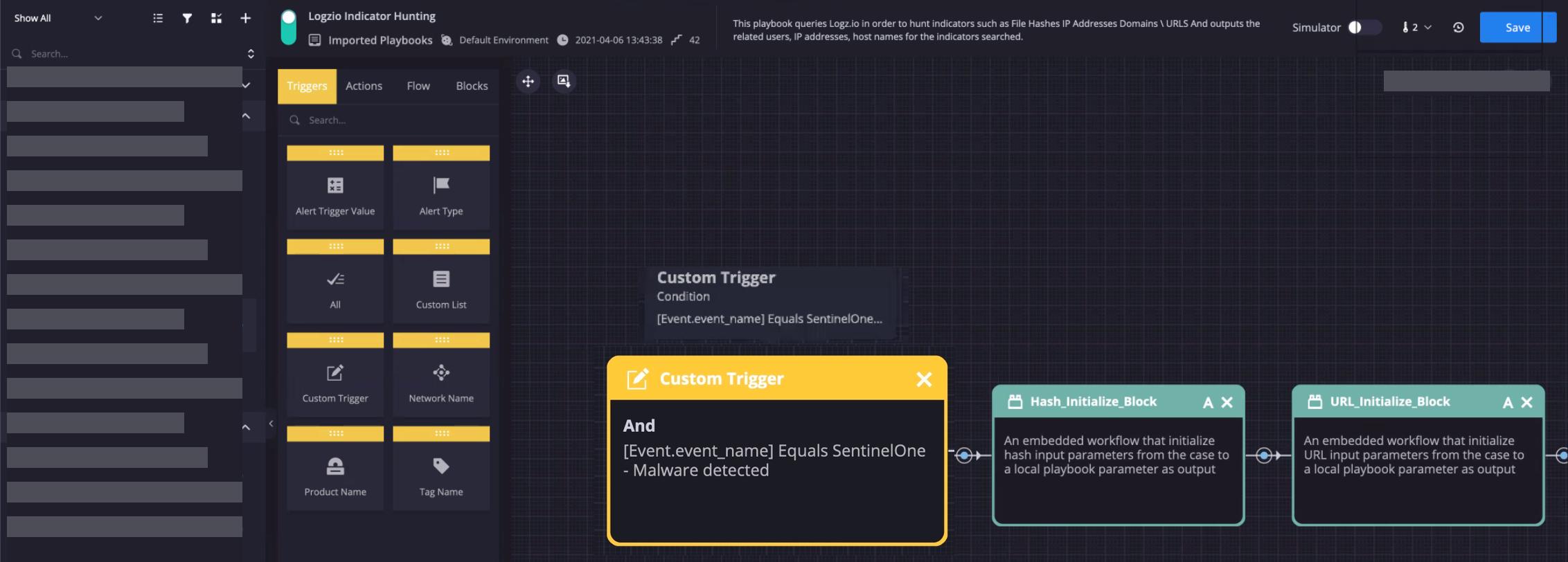 Configured Custom Trigger