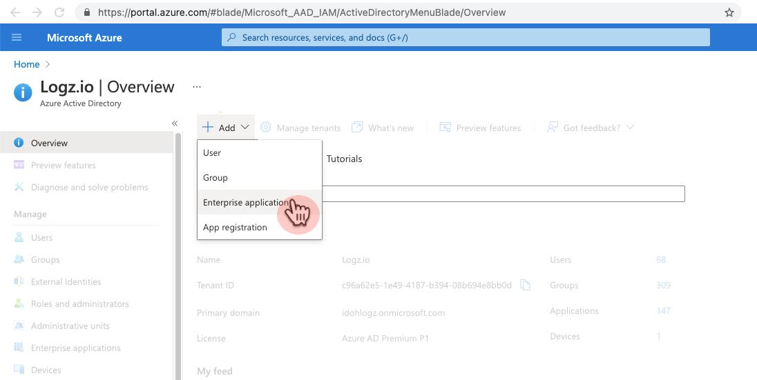 Enterprise application option
