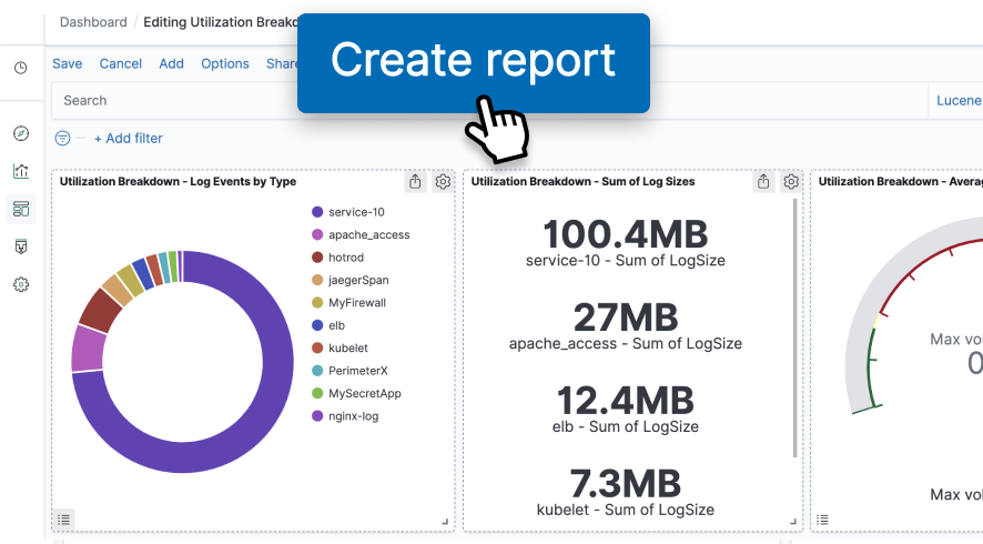 Create a report from a Dashboard