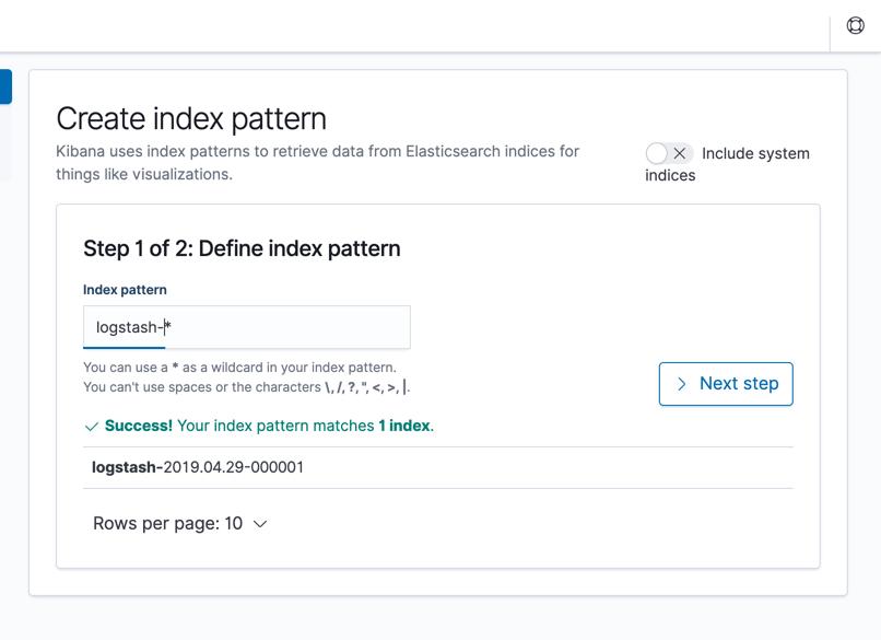define index pattern