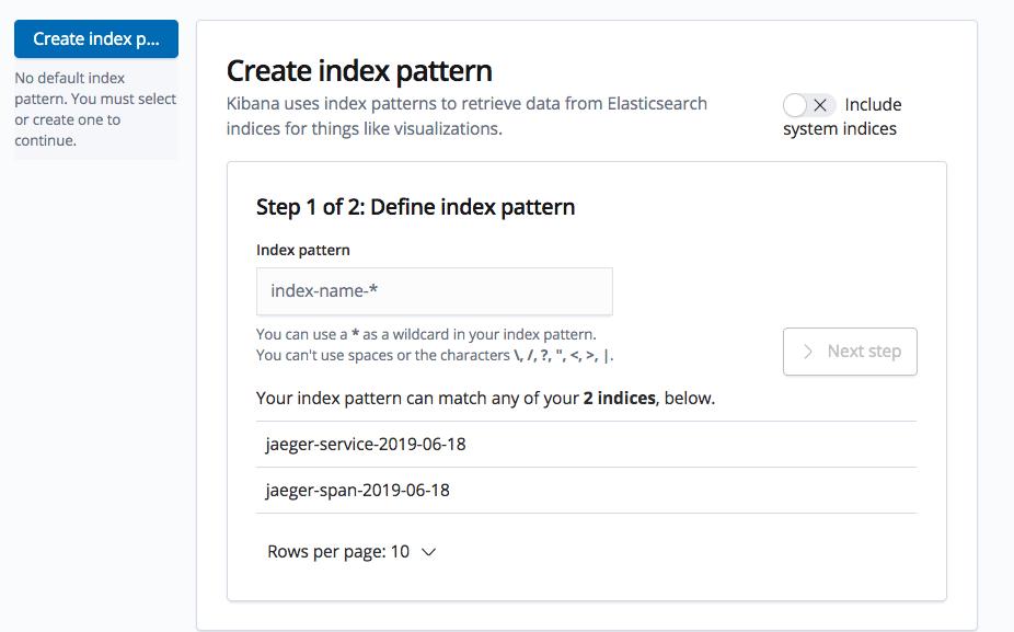 Kibana index pattern