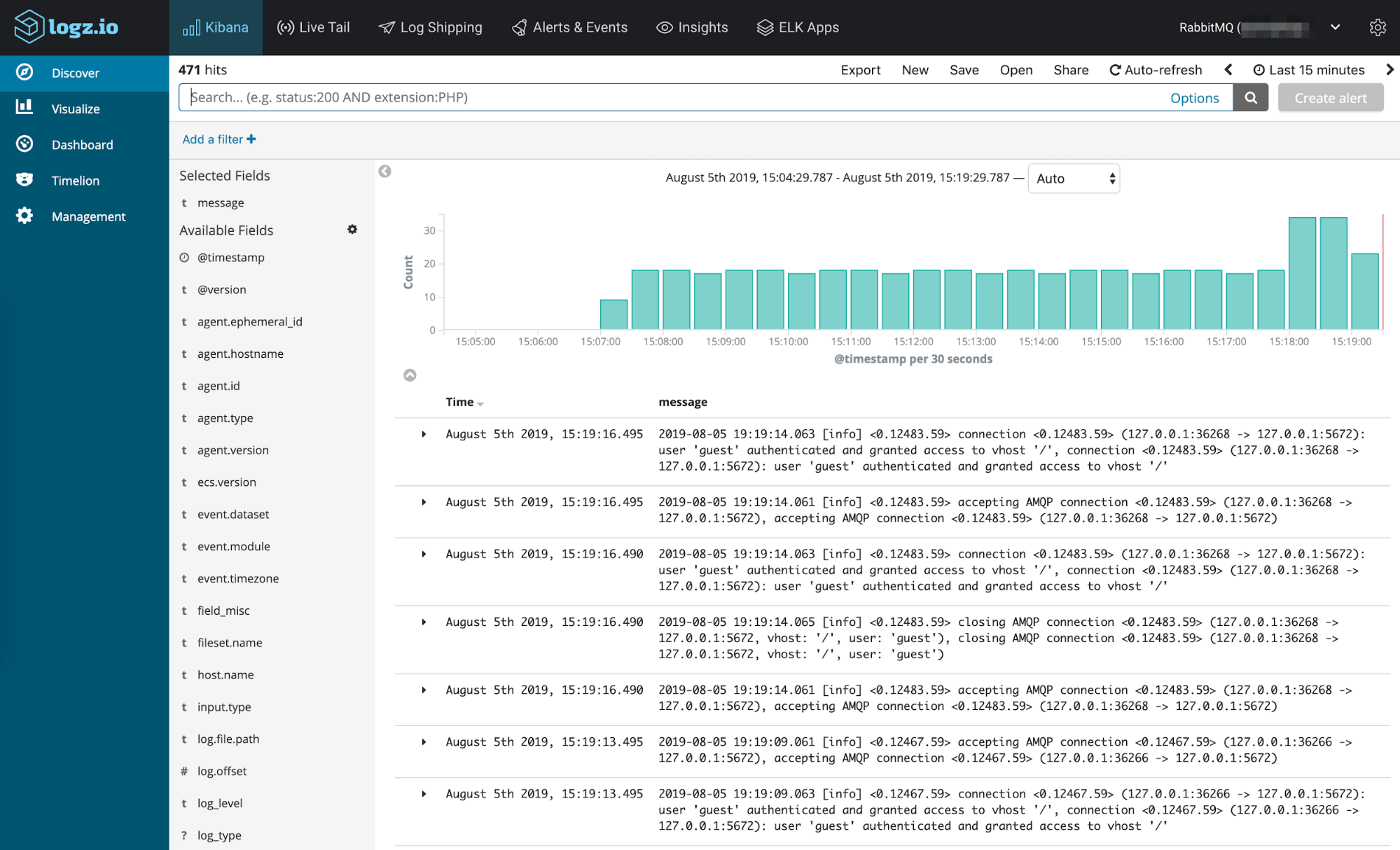 Monitoring RabbitMQ with the ELK Stack and Logz io Part One