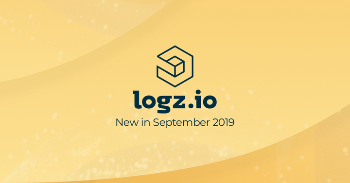 new in logz.io september