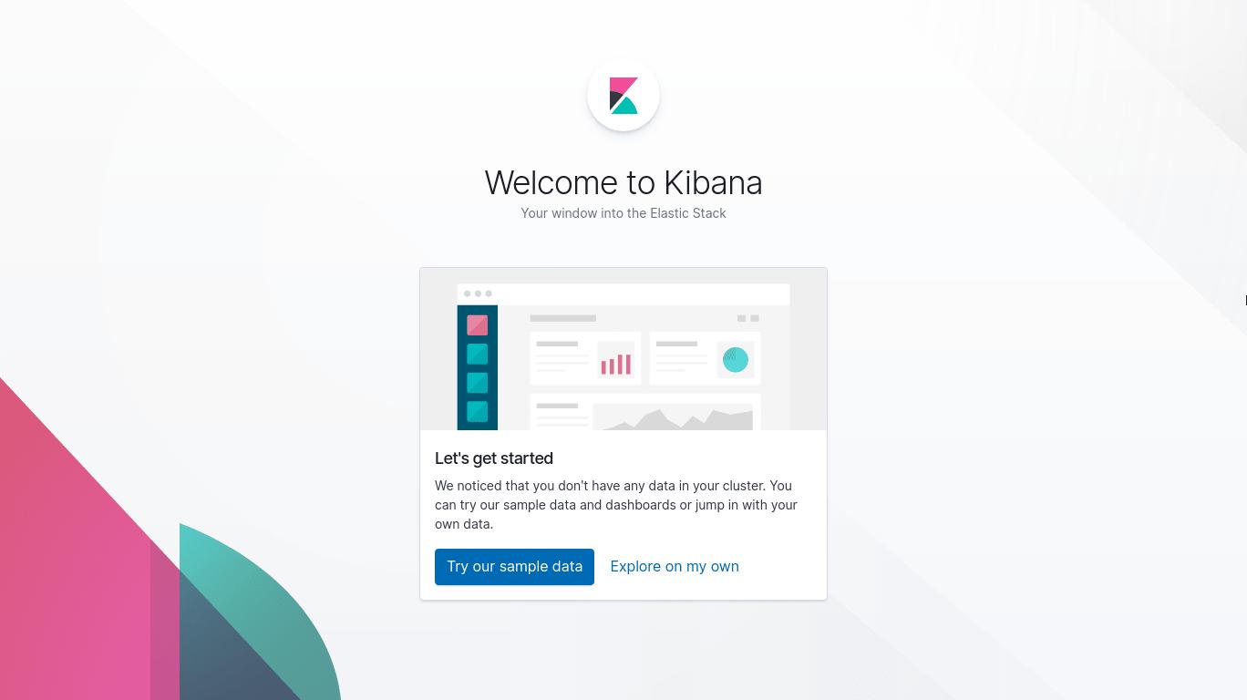 Kibana welcome