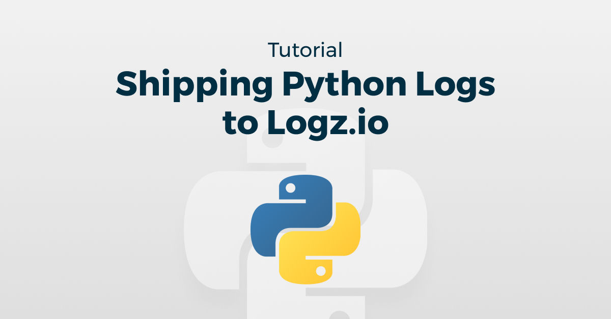 Shipping Python Logs to Logz.io