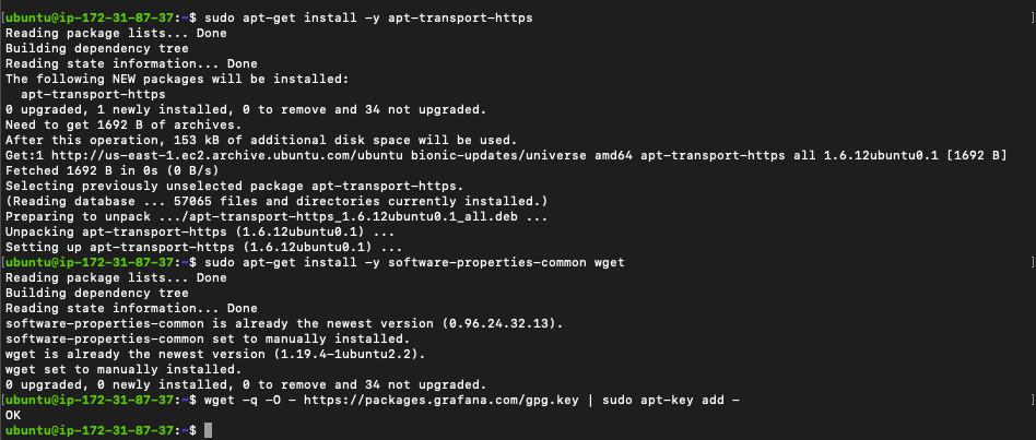 Install apt-get before installing open source grafana