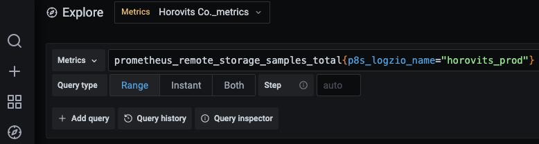 Prometheus Metrics in Logz.io Infrastructure Monitoring