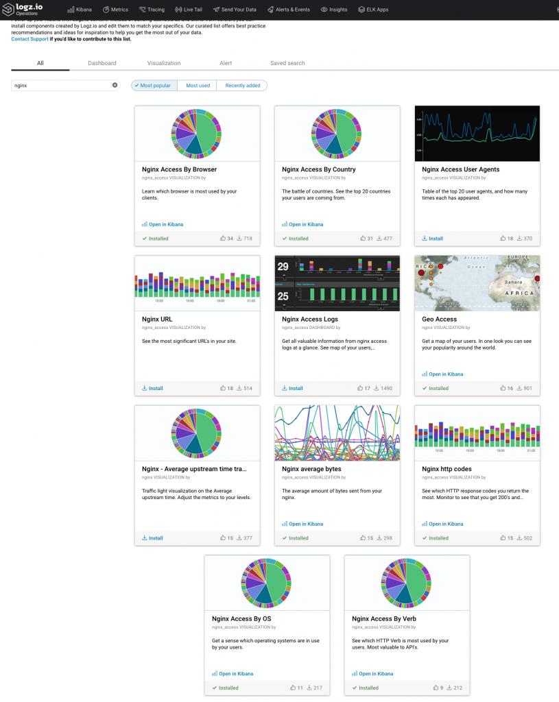 Installing ELK Apps - Logz.io Infrastructure Monitoring