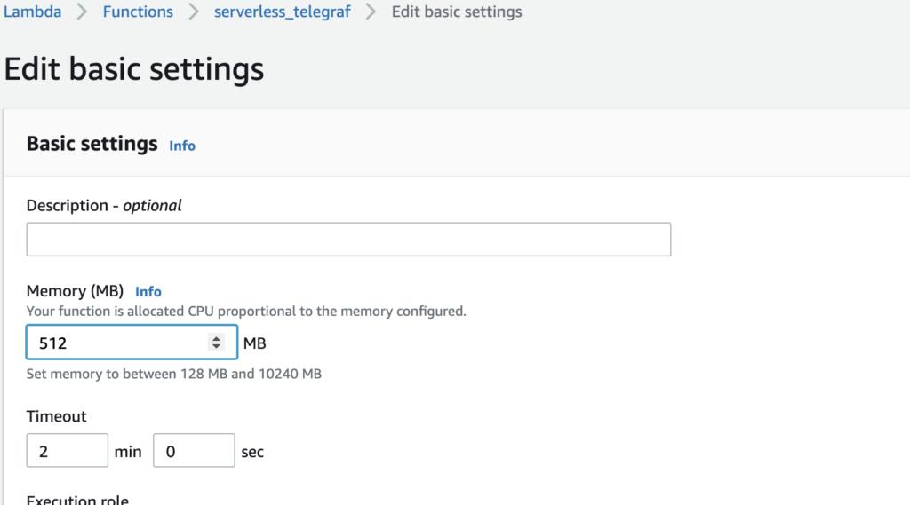 Edit basic settings